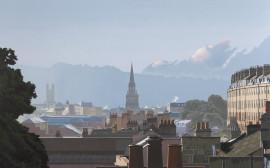 Rooftops and Spires, Landscape Print