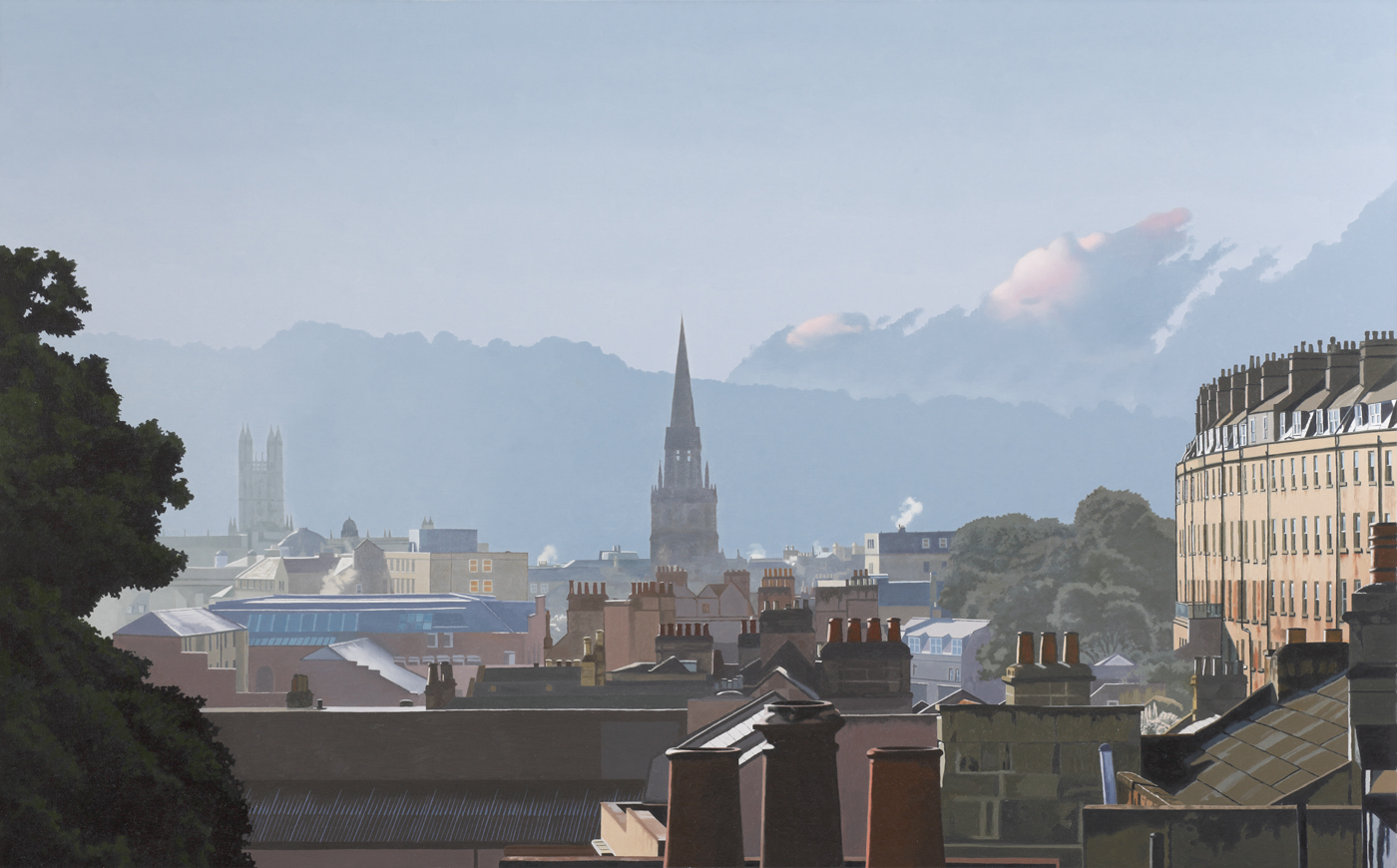 Rooftops and Spires, Landscape Print