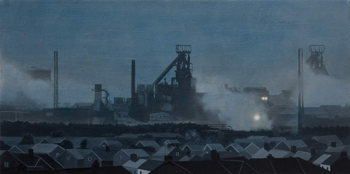 Blue Steel Gray Dawn - Port Talbot by Nick Cudworth