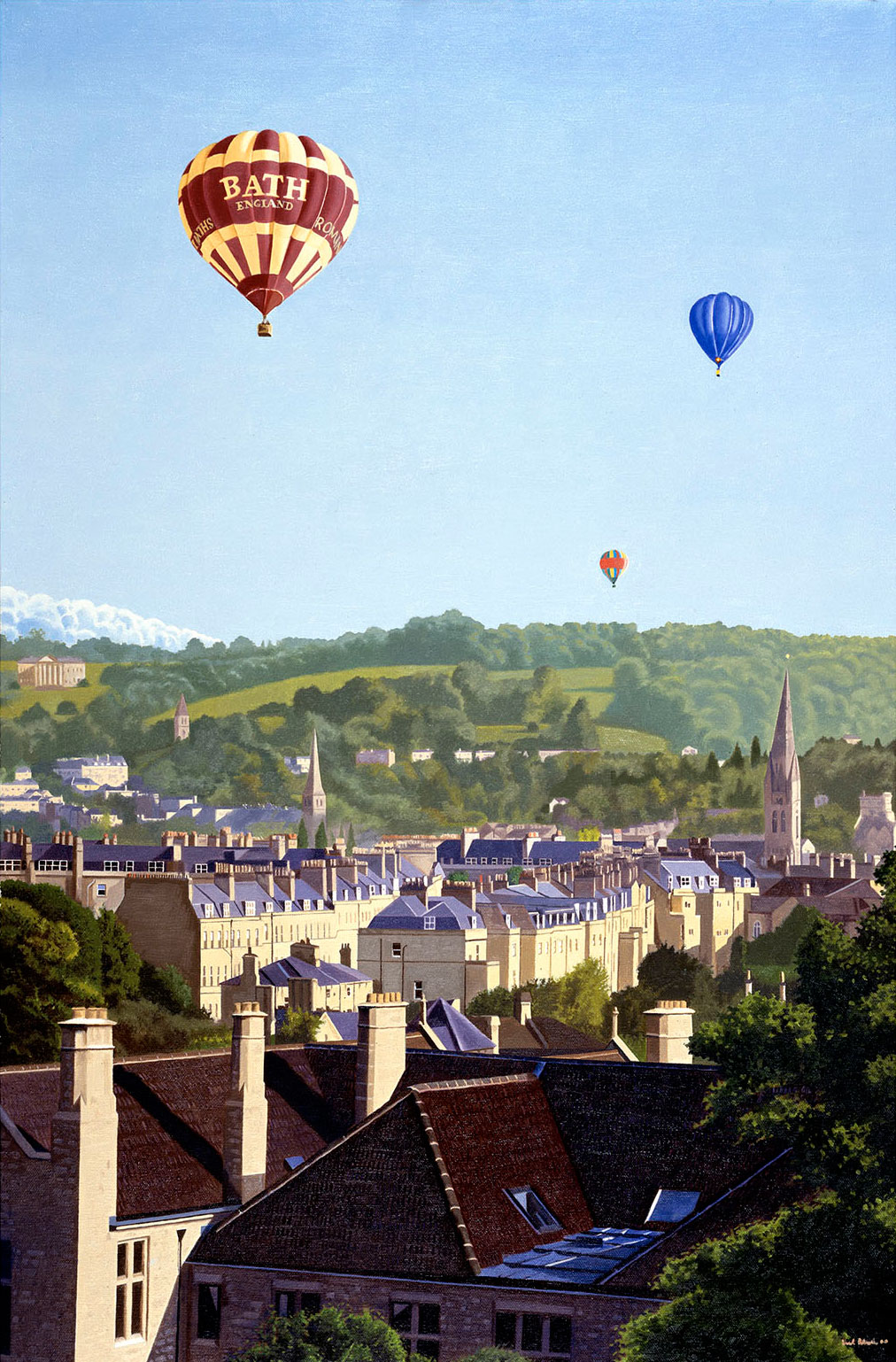 Balloons Over Bath by Nick Cudworth